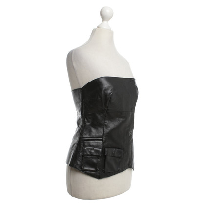 Costume National En noir Bustier