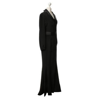 Guido Maria Kretschmer Silk dress in black