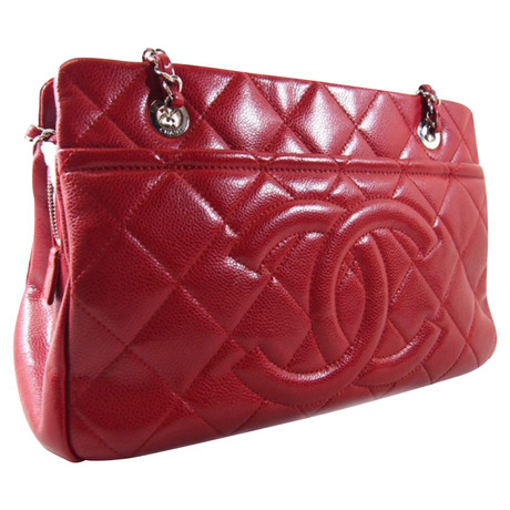 Billig Beliebt Erkunden Chanel Shopper Rot Verkaufen Kaufen Große Überraschung Online QVSVN1B