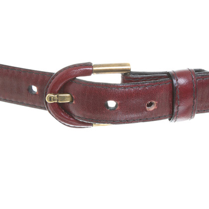 Aigner Leather belt in Bordeaux