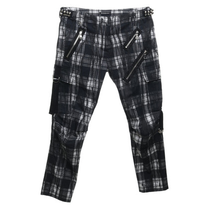 Balmain trousers with checked pattern