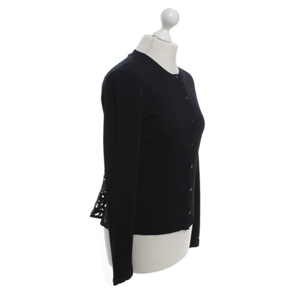 Marc Cain Cardigan in dark blue with lace