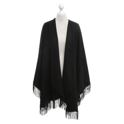 Jil Sander Cashmere Cape in Black