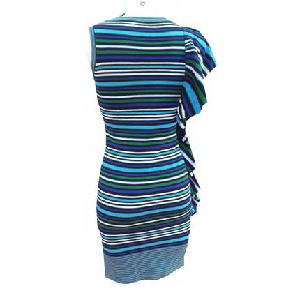 Karen Millen Gestreepte jurk met flounce