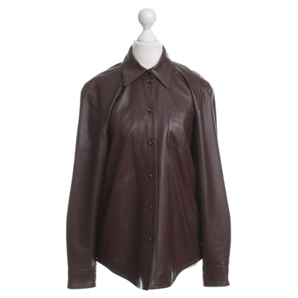 Escada Leather shirt in Brown