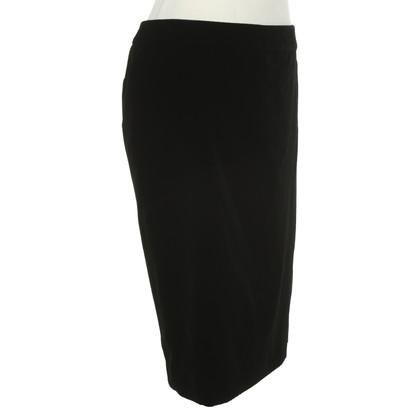 Yves Saint Laurent Velvet skirt in black