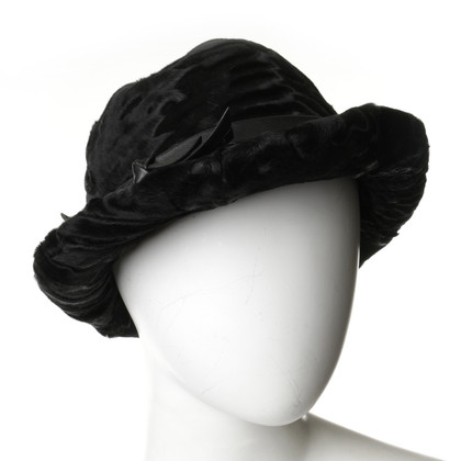 Andere Marke Vintage - Fell-Hut in Schwarz