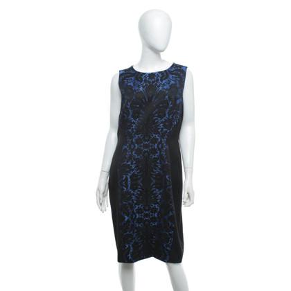 Hobbs Jacquard dress in blue / black