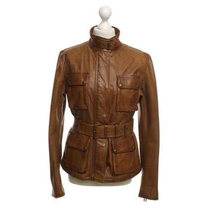 Belstaff Leren jas Brown