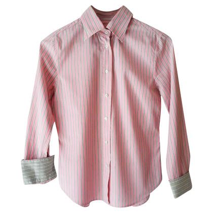 René Lezard Striped blouse