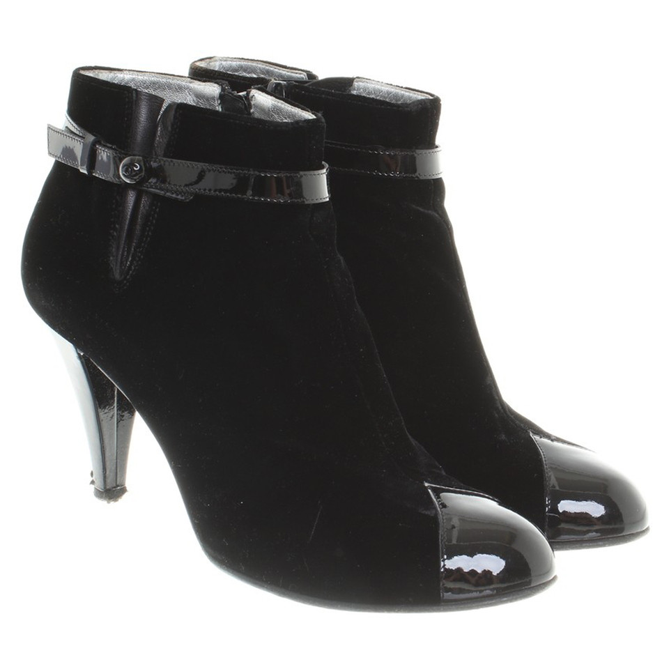 chanel ankle boots. chanel ankle boots made of velvet k