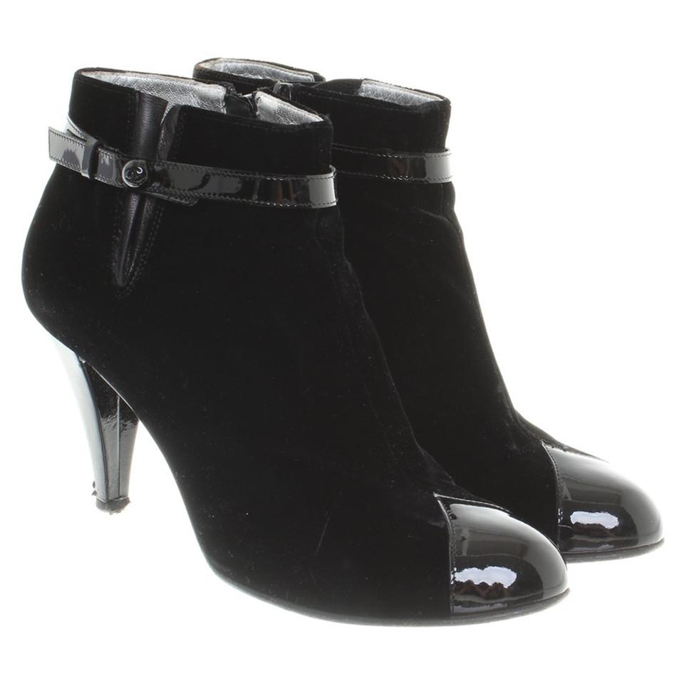 Chanel stivali di velluto