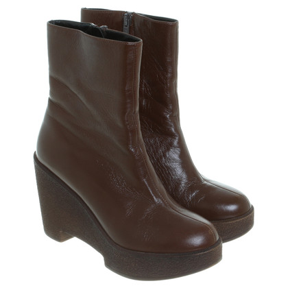 Robert Clergerie Brown ankle boots with wedge heel