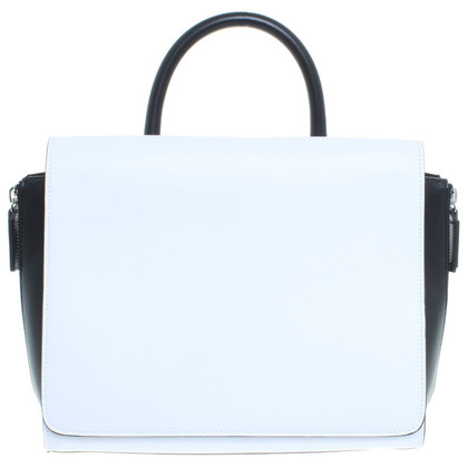 Costume National Handbag in white/black