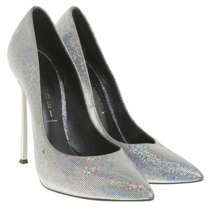 Casadei Silver colored pumps