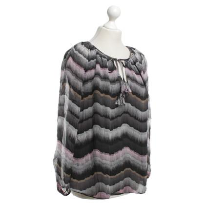 Diane von Furstenberg Zijden blouse met patroon