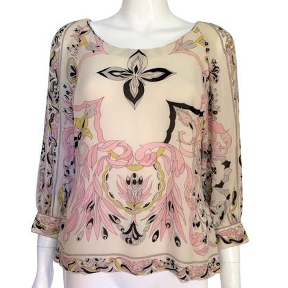 Emilio Pucci Zijden blouse met print