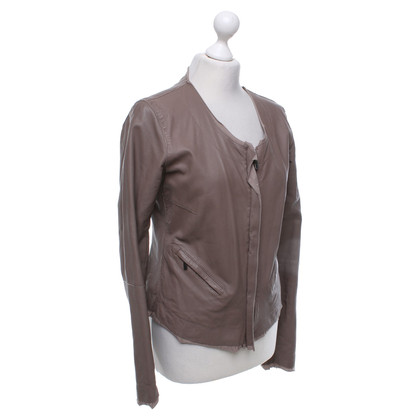 Armani Jeans Leather jacket in nude