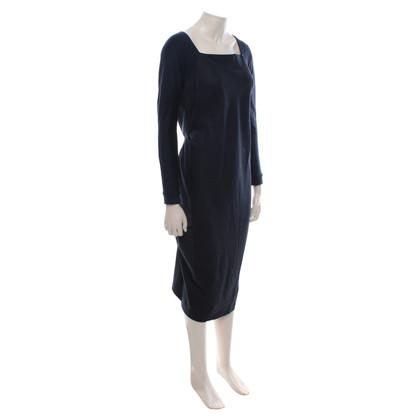 Sport Max Wollen jurk in donkerblauw