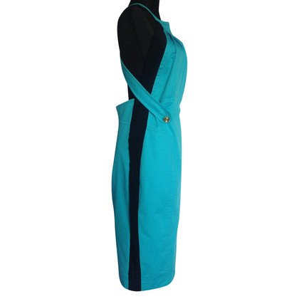 Dsquared2 Neckholder dress in turquoise / black