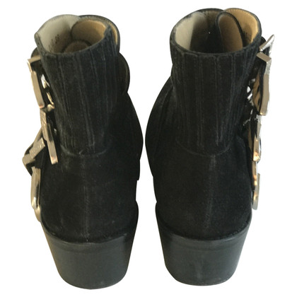 Toga Pulla Black suede buckled boots