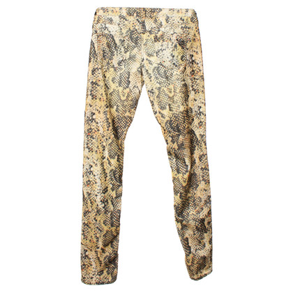 Isabel Marant Corduroy trousers with print