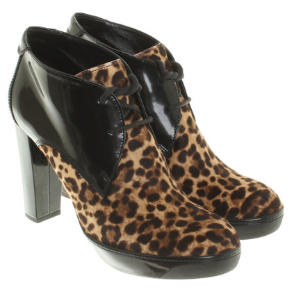 Hogan Ankle boots with leopard print