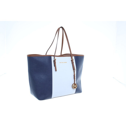 Michael Kors Shopper in Blau/Weiß