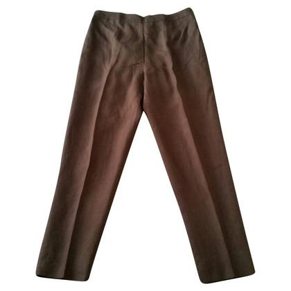Marina Rinaldi Pantalone in lino marrone