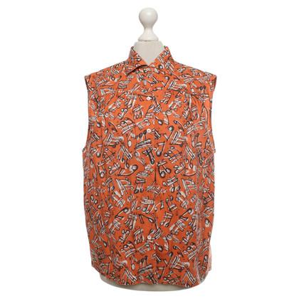 Miu Miu Mouwloze blouse met patroon