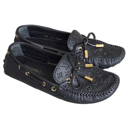 "Louis Vuitton ""Gloria"" Monogram patern slipper loafers"