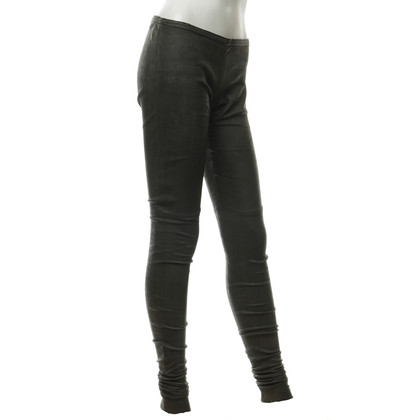 Haider Ackermann Leather leggings in grey