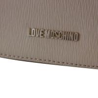 Moschino Love lederen schoudertas