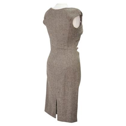 L.K. Bennett robe de laine brune