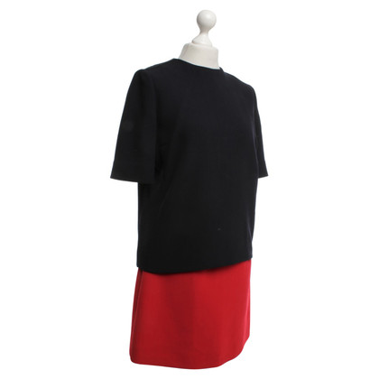 Victoria Beckham Abito in Dark Blue / Red