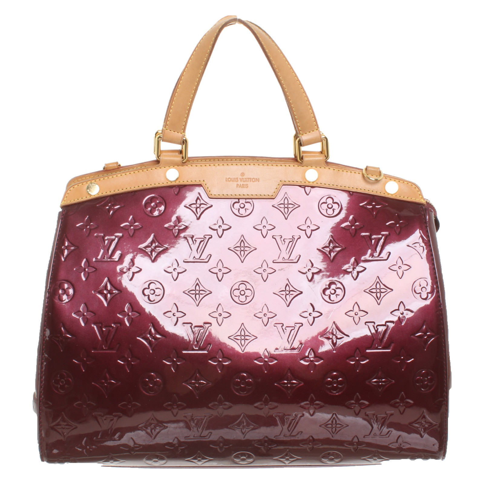 special for shoe sleek new images of Louis Vuitton Handbag Patent leather in Bordeaux - Second ...