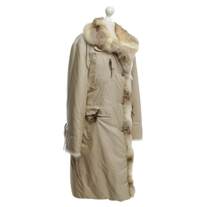 Ermanno Scervino Manteau d'hiver avec garniture de fourrure