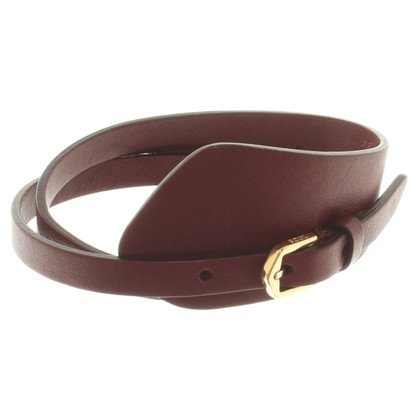 Tod's Eggplant colored wrap bracelet