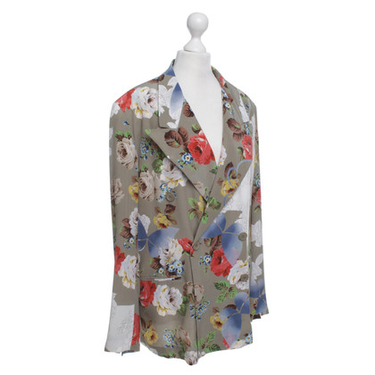 Wunderkind Silk Blazer rose motif