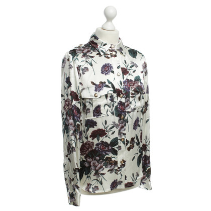 Ganni Blouse with colourful flower pattern