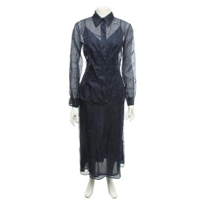 Alberta Ferretti Dress & Blouse in dark blue