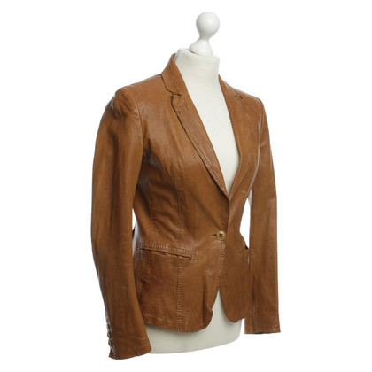 Boss Orange Leather jacket with lapel