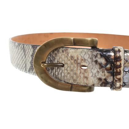 Fausto Colato Python ceinture en cuir