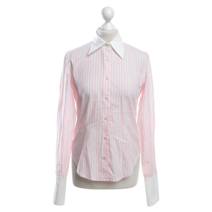 Van Laack Striped blouse in bicolor