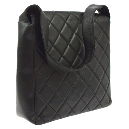 Chanel Chanel quilted black leather