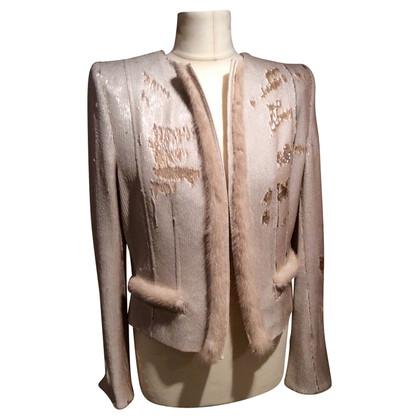 Thomas Rath Couture Pailletten Jacke mit Nerz