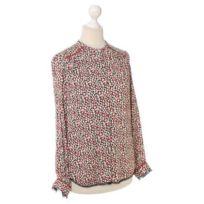 Zadig & Voltaire Bluse mit Herz- Muster