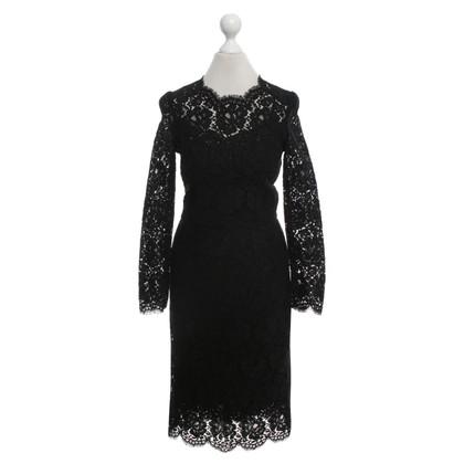 Dolce & Gabbana Kanten jurk in zwart