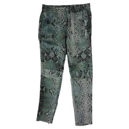 Pierre Balmain Silk pants with reptile-print