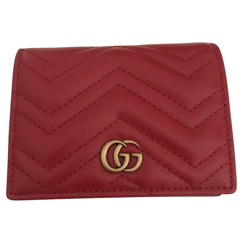Gucci Bag/Purse Leather in Red , Second Hand Gucci Bag/Purse